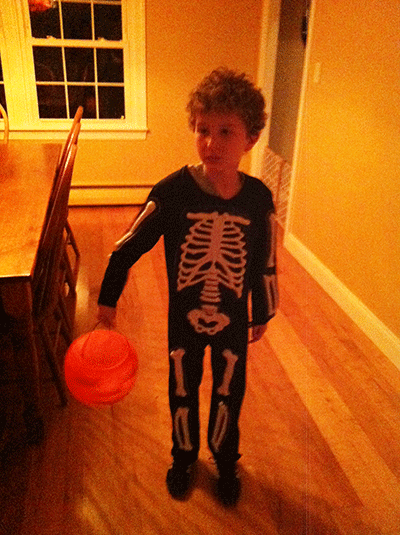 Our little skeleton!