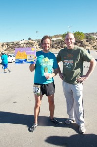 Me with the race winner, Barry Sackett, in Los Angeles.