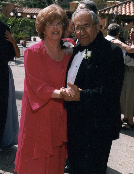 My grandparents at my wedding. They really loved Tiffany.