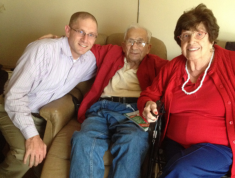 Me with my grandparents the last time I was together with both of them, 11/15/2013.