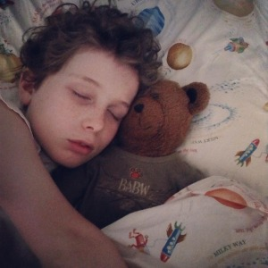 "Jack and ""Temmy"" ... that stuffed bear has been through the ringer, but he still sleeps with him every night."