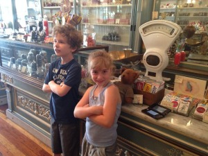 Jack and his sister Ava at a candy shop in Philly. I love this picture!